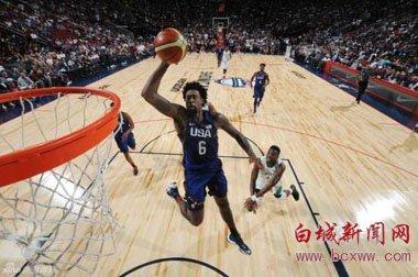 美国男篮热身全胜