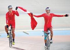 刘浩领衔勇夺自行车团体追逐赛冠军 我省选手又获一枚亚运金牌
