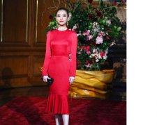 倪妮鱼尾红裙出席晚宴 巧笑倩兮展优雅气质