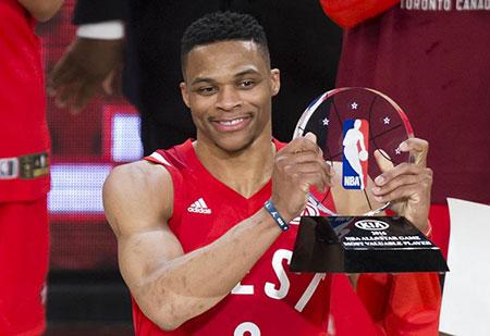 NBA全明星赛:西部明星队获胜