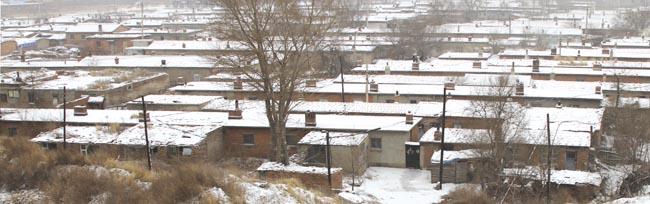 以前,市区内低矮破旧的房屋随处可见。