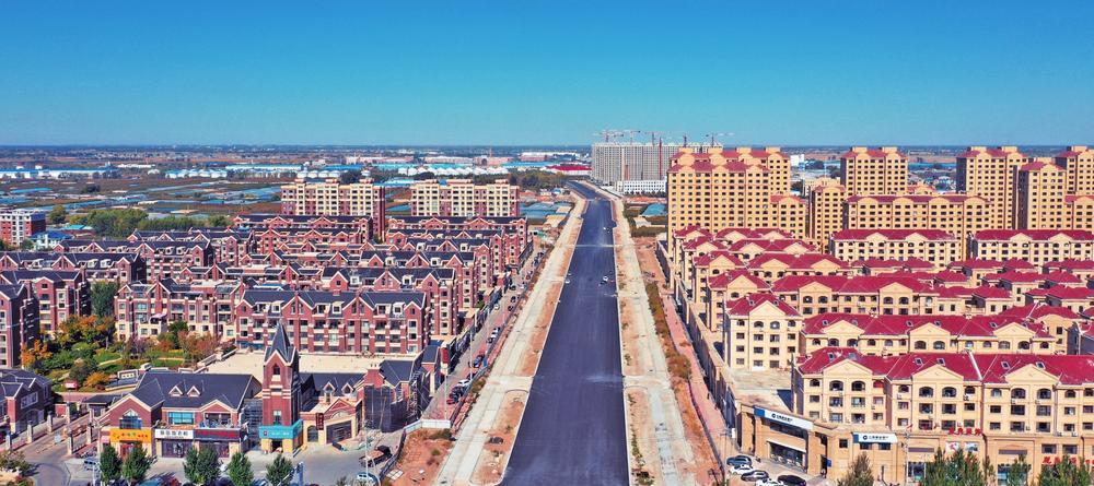 亚行城市道路贷款项目幸福北街鸟瞰图