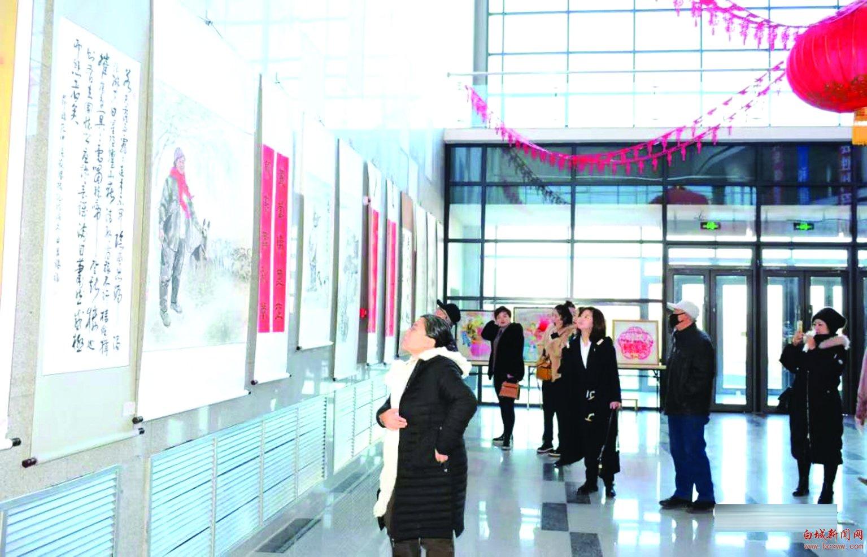 洮南市举行迎新春书画作品展