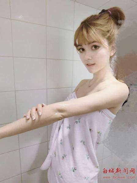台湾混血Showgirl晒清纯照